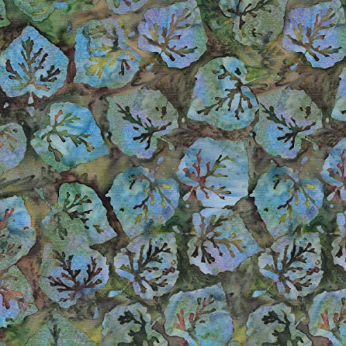 (Island Batik Midsummer's Night Aspen Leaves Pinecone)