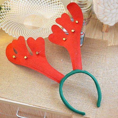 Lulufu Elk Antlers Bells Christmas Head Buckle Christmas Headwear Creative Headwear Christmas Decorations Bells/15g