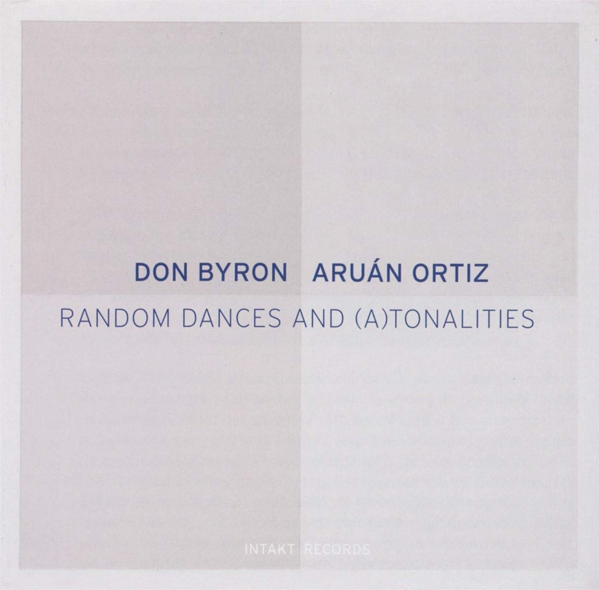 CD : Don Byron - Random Dances & Atonalities (CD)