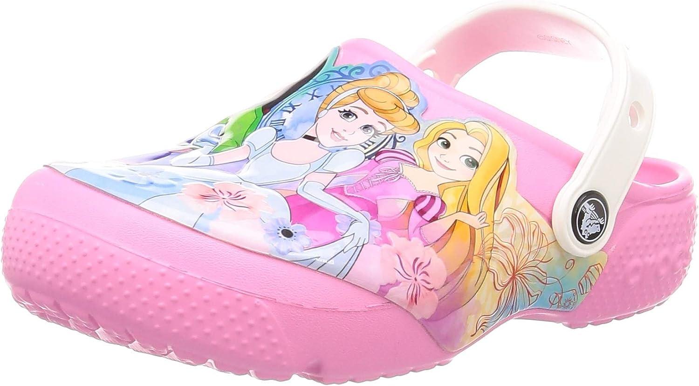 Crocs Kids Disney Clog | Slip-on Princess Shoes for Toddler Girls