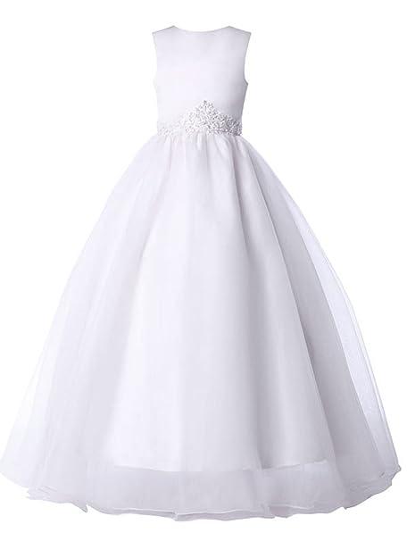 Quissmoda vestido niña dama comunion fiesta largo corto,talla 2, color blanco