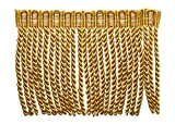 27 Yard Package of 6 Inch Long Bullion Fringe Trim, Style# DB6 - Medium and light Gold - Golden Rays 4875 (81 Ft / 25 Meters)