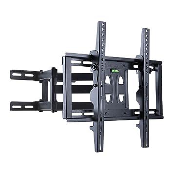 UNHO Support TV Mural Inclinable et Orientable avec Double Bras pour les  Ecrans DEL LCD Plasma 7d873de289a1