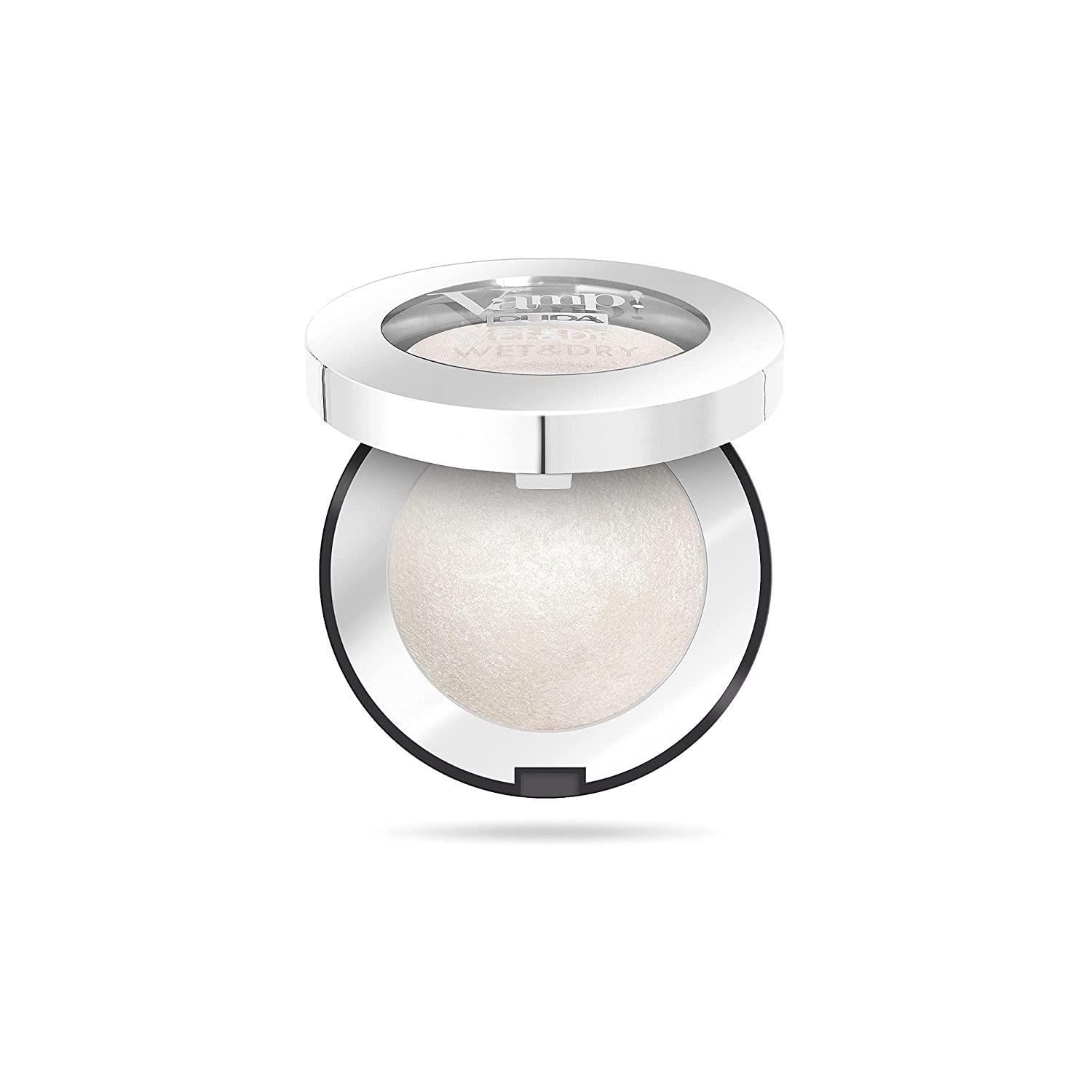 Vamp! Wet and Dry Baked Eyeshadow – 300 White Snow by Pupa Milano for Women – 0.035 oz Eye Shadow