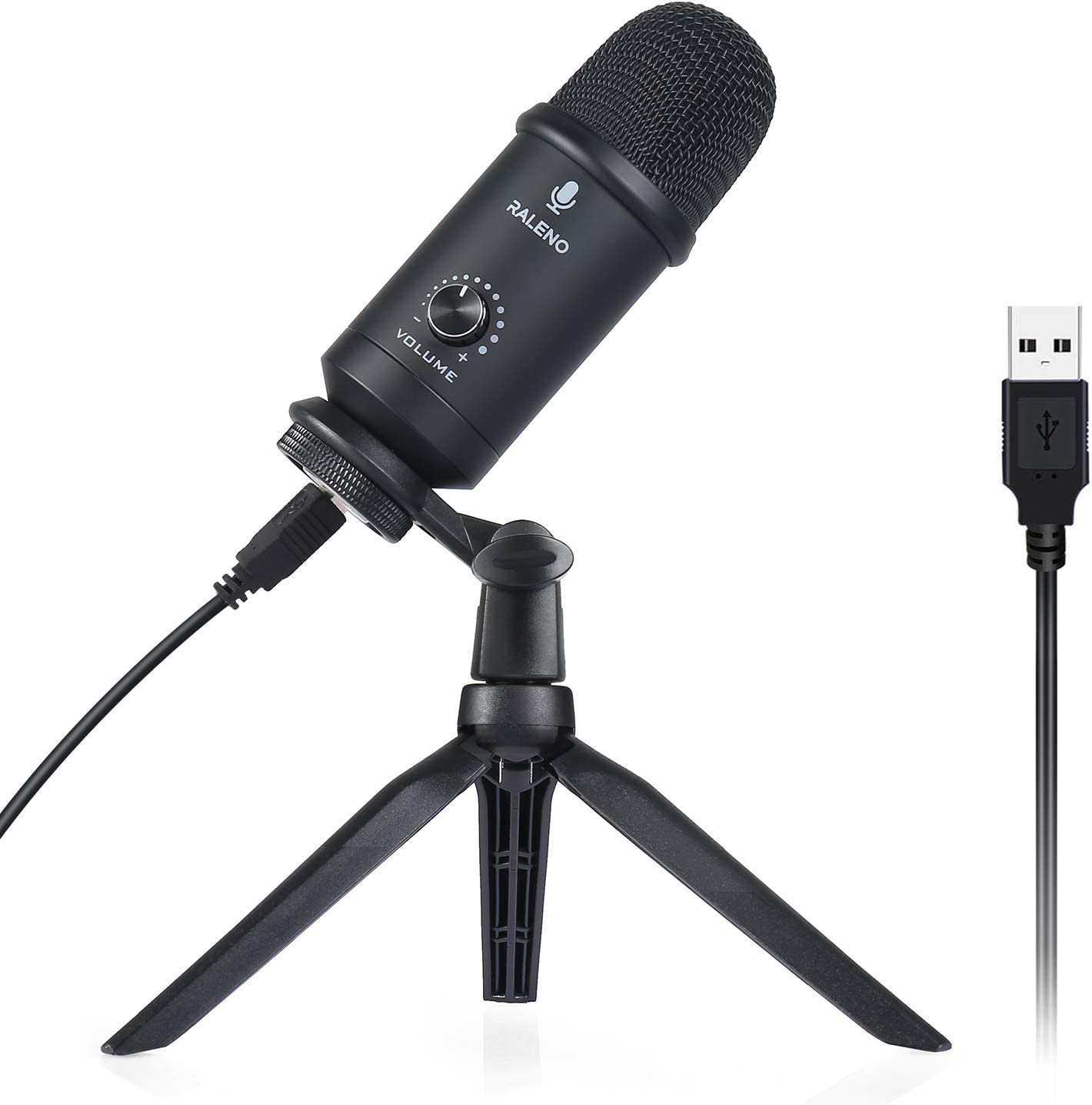 USB Microphone for Computer, RALENO Professional Studio Cardioid Condenser Mic Kit Compatible with Mac PC Laptop for Skype YouTube Teaching Gaming Recording.: Home Audio & Theater