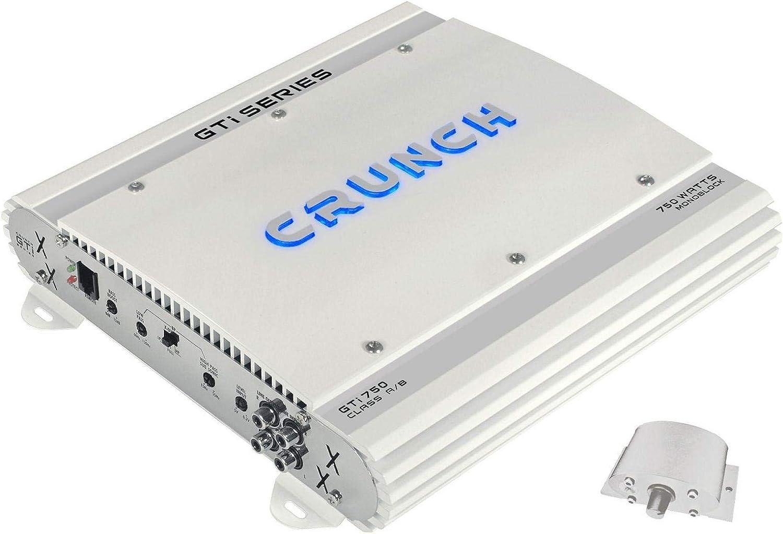 Amplificador de Audio Crunch GTi-750 Coche Al/ámbrico Blanco 750 W, A//B, 0-12 dB, 375 W, 200 W, 750 W