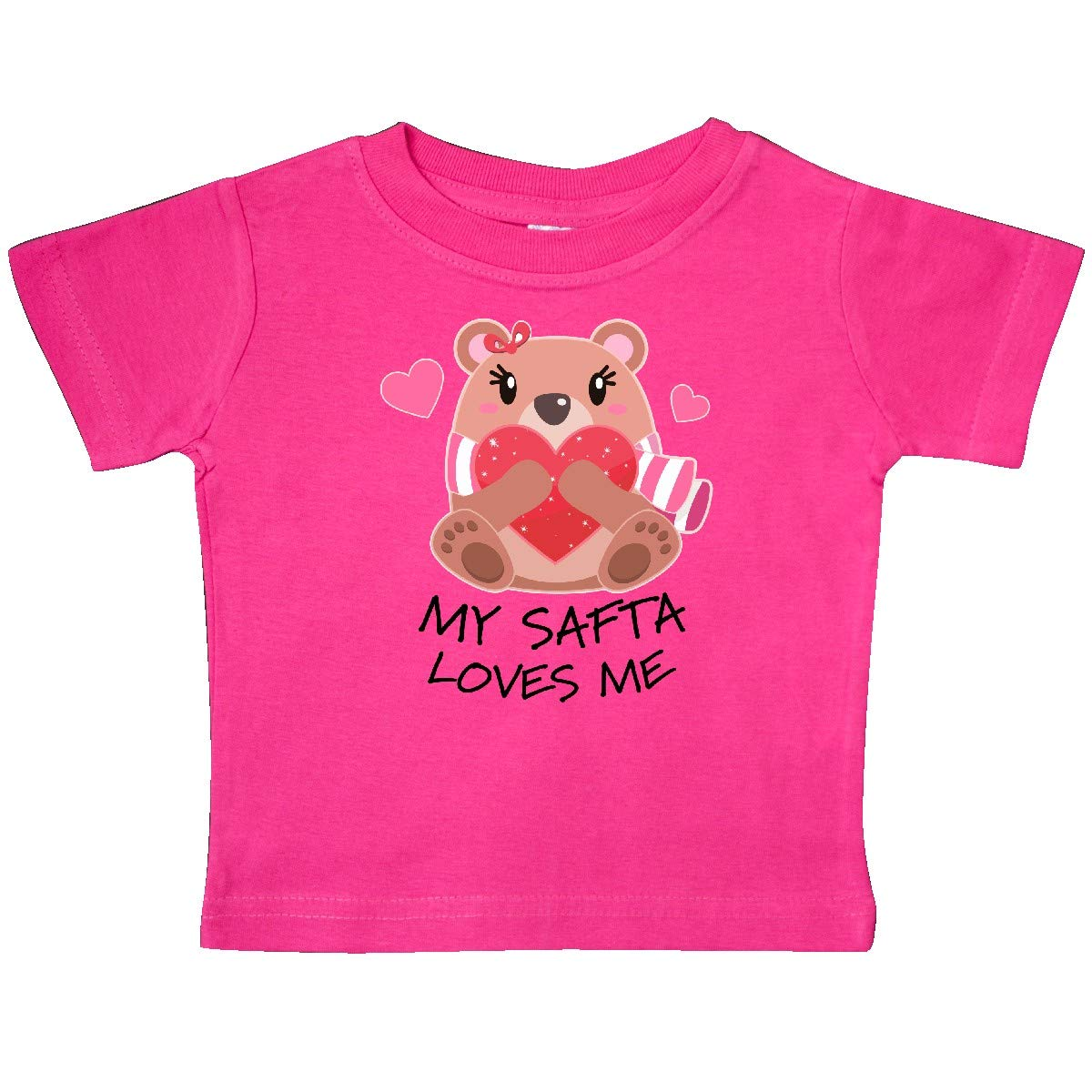 inktastic My SAFTA Loves Me Bear and Hearts Baby T-Shirt