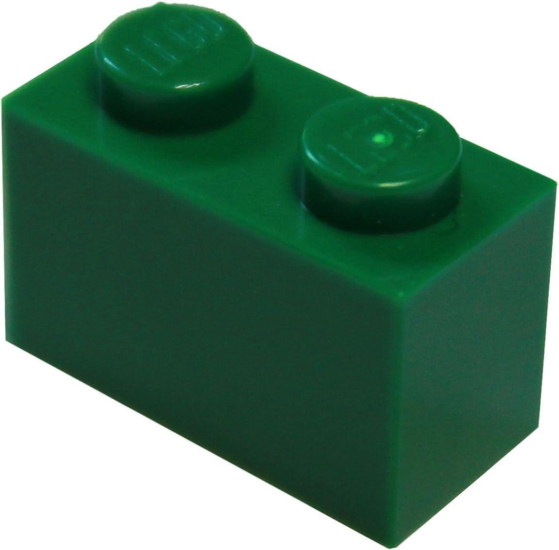 LEGO Parts and Pieces: Green (Dark Green) 1x2 Brick x50