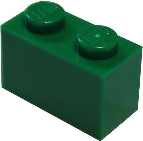 Lego 4 Dark Green 1x2 brick block NEW