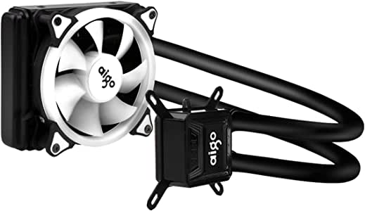 AIGO Refrigerador Liquido CPU 120MM Radiador Ventilador Refrigeración Líquida Radiator Watercooling Extreme Performance All-In-One Liquid CPU Cooler con Luz LED ...