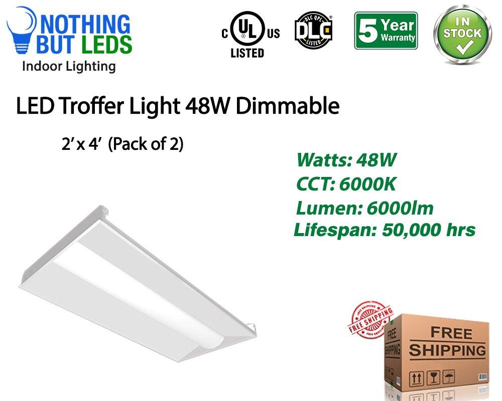 Beyond LED 150827 48W Indoor Led Troffer Lights, 2'' x 4''