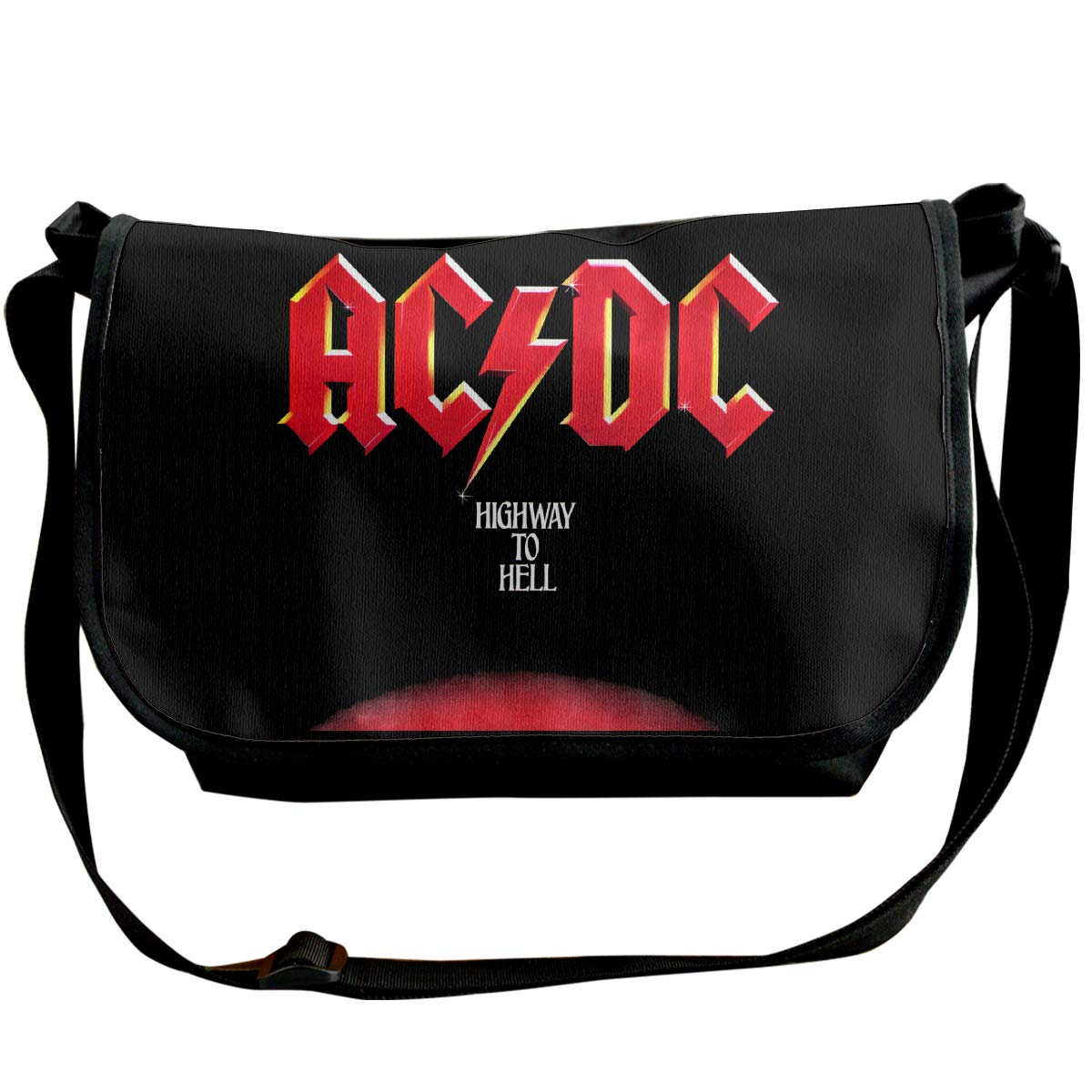 Classic Ac Dc Highway To Hell Messenger Bag Shoulder Bag For All-Purpose Use