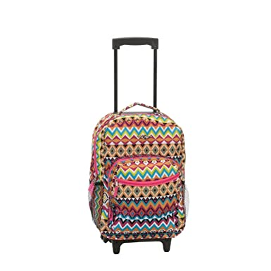 d579721081d5 Rockland Luggage 17 Inch Rolling Backpack, Tribal