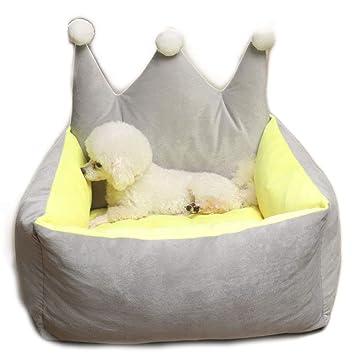 UTOPIAY Forma de Corona Camas para Perros Gatos Cojín Suave ...