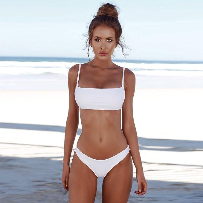 3240747bd1c9 Bikini Mujer 2019 Push up, Modaworld Bikini Bandeau para Mujer Push-Up  Vendaje Traje de baño brasileño Traje de baños de Ropa de Playa