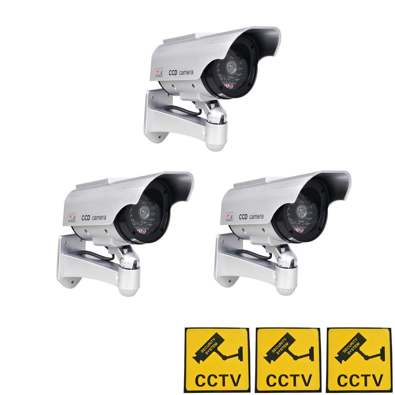 Phot-R® 3X Solaire Dummy Caméra de Surveillance LED IR Cam I avec CCTV Autoco...