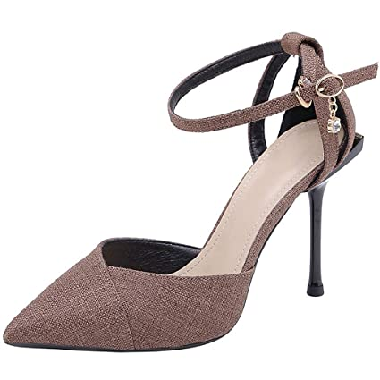 De En Tacón Mujer Zapatos Sandalias Moda Con Punta Dcyu Alto 9IHWED2
