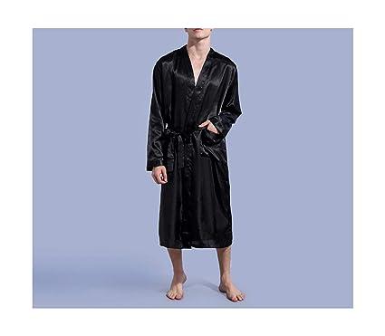 Traje Kimono de los Hombres Albornoz Ropa de Dormir Falda ...