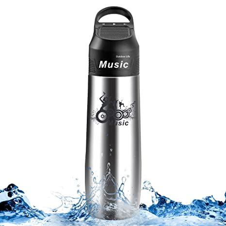 cf38782eead Spardar 2 in 1 Portable Bluetooth Speaker Water Bottle Stainless Steel 304  Vacuum Insulated Outdoor Water