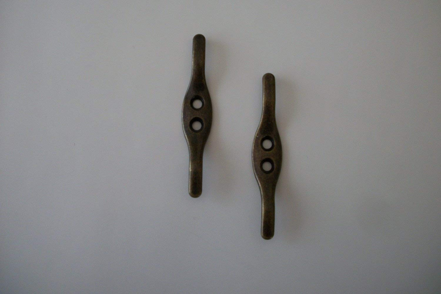 Antique Brass Color Cord Cleats (1 Pair)