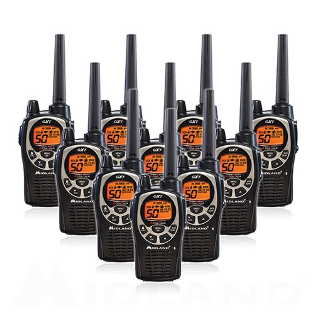 Midland GXT1000VP4 36-Mile JIS4 Waterproof 50-Channel FRS/GMRS Two-Way Radio (10 Pack )
