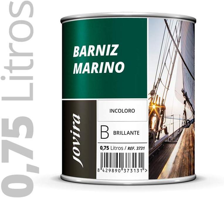 BARNIZ MARINO BRILLANTE, Barniz madera exterior, Barniz madera interior, barniz madera incoloro, Barniz madera transparente) Especial resistencia en ambientes marinos. 0.750 ML