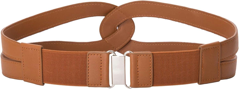 GRACE KARIN Womens Vintage Elastic Stretchy Wide Waist Cinch Belt