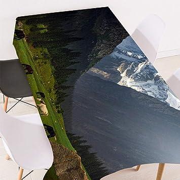 HACLJPP Mantel Mesa Rectangular, 3D Manteles, Estepa Alpina ...