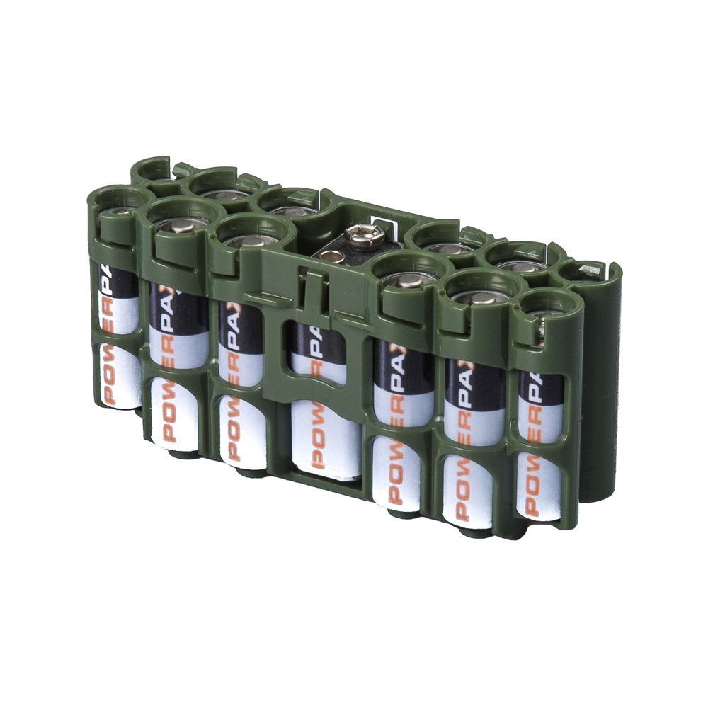 Storacell by Powerpax A9 Multi-Pack Battery Caddy Glow-in-the-Dark Moonshine