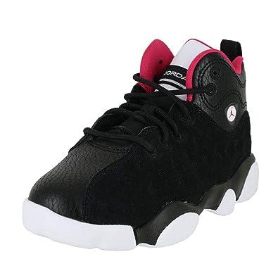 wholesale dealer da7ef 47e38 Jordan Kids Jumpman Team II PS Black Rush Pink White DK Grey Size 1.5