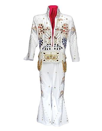 Amazon.com  Men s Deluxe King Elvis Jumpsuit Costume- Limited ... 5d911fe0a