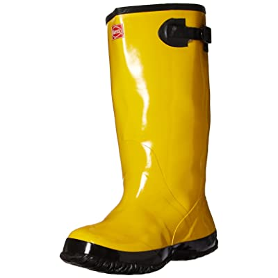 """BOSS 2KP448109 Rubber Boot, 17"""" Size 9, Yellow: Industrial & Scientific"""