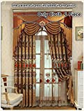 TIYANA Golden Cloth Curtains for Living Room 96 inch Long with Grommets Delicate Embroidery Luxurious Royal Style Window Treatment for Bedroom, 1 Panel, Cockscomb Flower, W52 x L96 inch Review