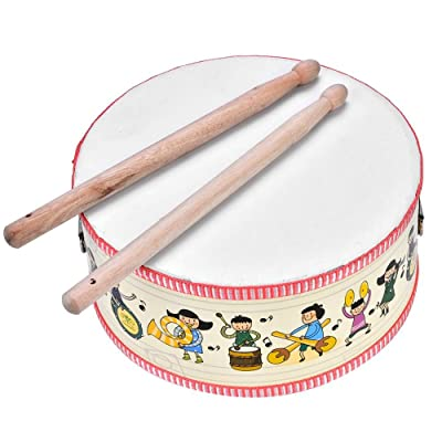 Drum Musical Toy, Mini Wooden Handheld Hand Drum Musical Percussion Instrument Child Toy Gift: Sports & Outdoors