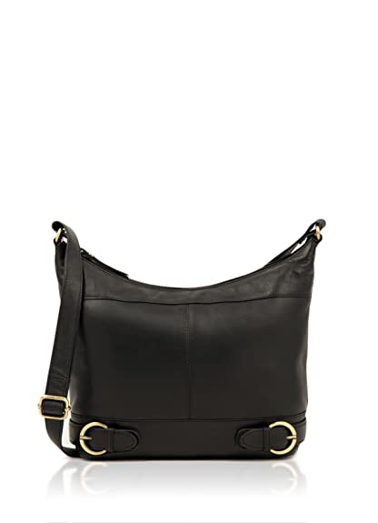 6aa00a74cfdf Lakeland Leather Women s Coniston Real Leather Cross Body Shoulder Bag in  Black