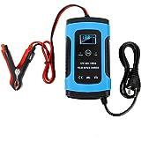 Fanaticalpurchasejp バッテリー 充電器 12V専用 自動車 バイク カーバッテリー 電動自転車 カー用品 メンテナンス用品 完全にインテリジェントな修復タイプの鉛蓄電池充電器