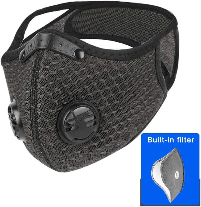 WM Máscara de Seguridad para la protección, la máscara de Lucha contra la contaminación por Polvo, con Filtro para el Ciclismo Correr máscara de Actividades al Aire Libre a Prueba de Polvo Ciclismo,A