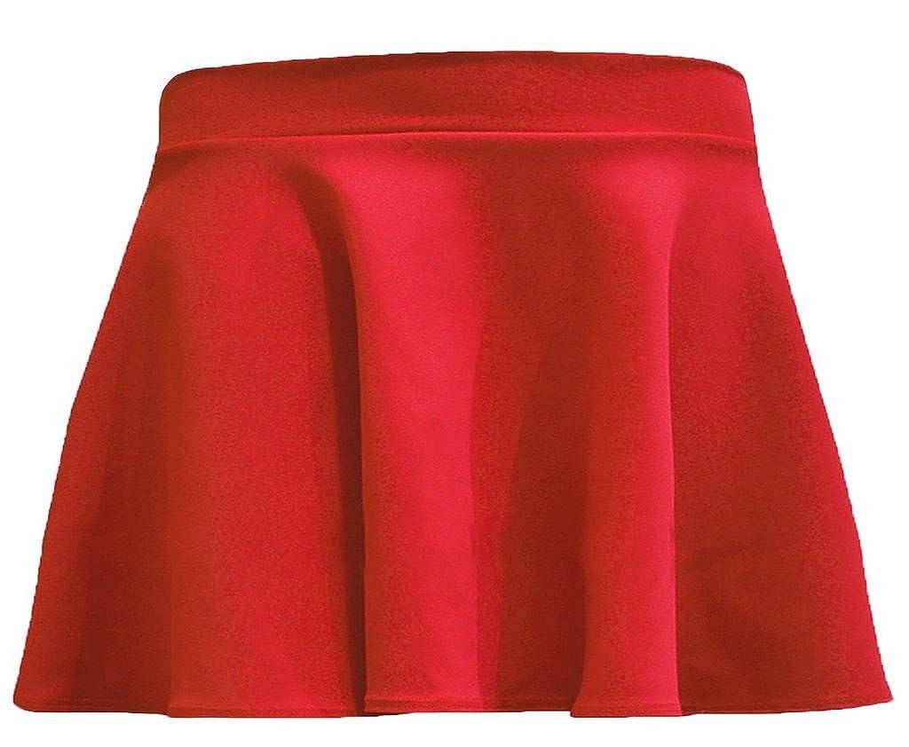 Islander Fashions - Falda - Skater - para niña Rojo Rosso 5/6 Años ...