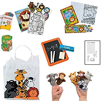 BusyBags - Zoo Animal Activity Travel Bag for Kids Ages 3 & Up - Hours of Quiet Activities - Keep kids busy on airplanes, road trips, waiting at restaurants, etc..