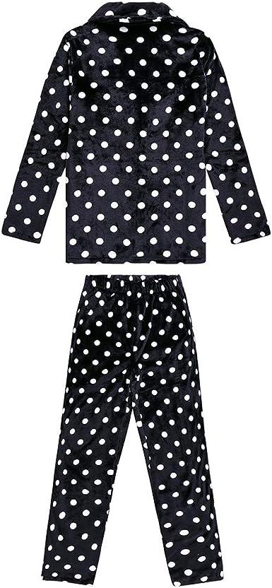 YIKEYO Pijama Navidad Familiar a Juego para Pareja Mujer ...