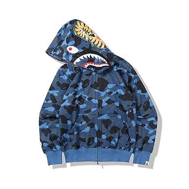 999139a5 Amazon.com: New Bathing Ape Bape Shark Jaw Camo Full Zipper Hoodie Men's  Sweats Coat Jacket: Clothing