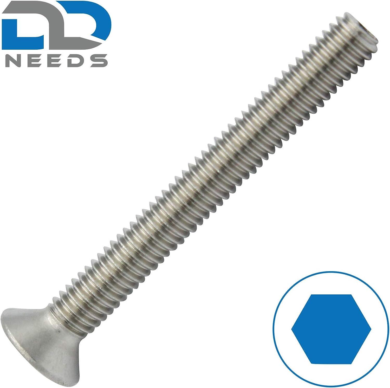 Senkkopfschrauben D2D Senkschrauben mit Innensechskant aus rostfreiem Edelstahl A2 V2A VPE: 20 St/ück ISK DIN 7991 // ISO 10642 M4x25