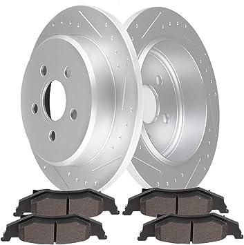 Neon Rear  Blank Brake Rotors+Ceramic Brake Pads For Chrysler Dodge PT Cruiser