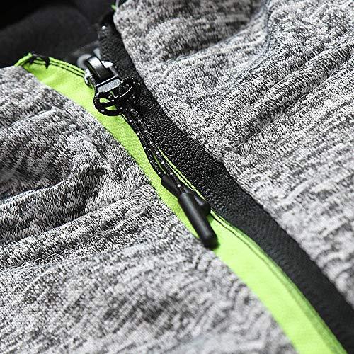 De Veste Sweat À Slim Hommes Capuche Gris07 Sport Outwear Manteau Chaud Chaud D'hiver Moonuy BfqEqw