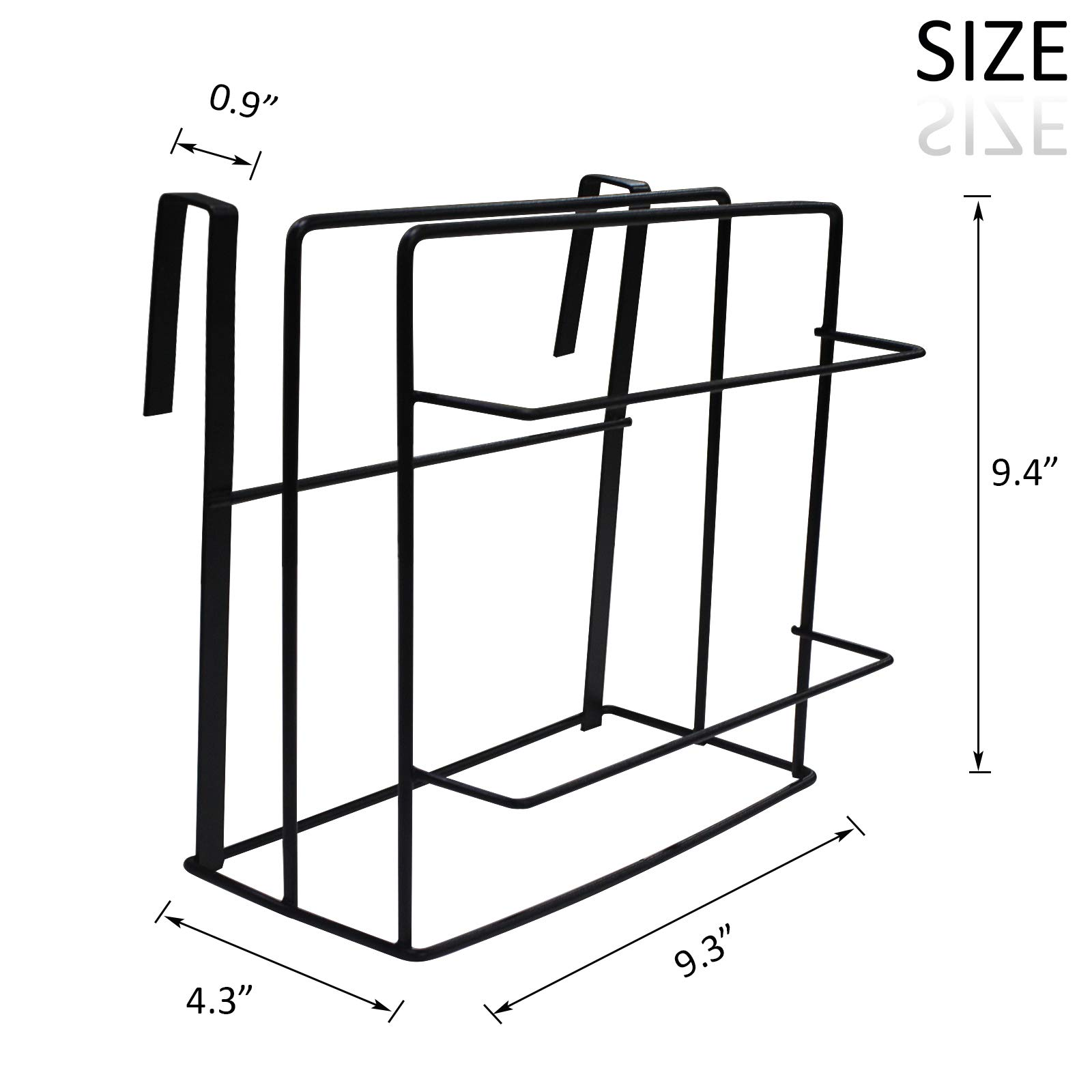 Chopping Board Holder Under Cabinet Shelf Organizer Towel Rack Multifunctional Kitchen Cookware Organizer Storage Rack Hanging Kitchen Storage Holder (Black-1pack) by Kitchen Hardware Collection (Image #2)