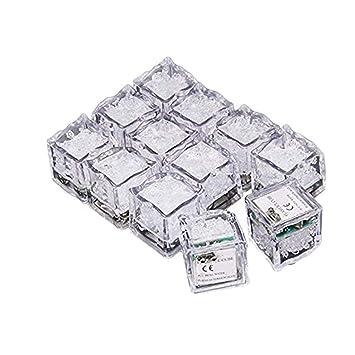 KAIMENG - Cubitos de hielo con luz LED, sensor de líquido, color de ...