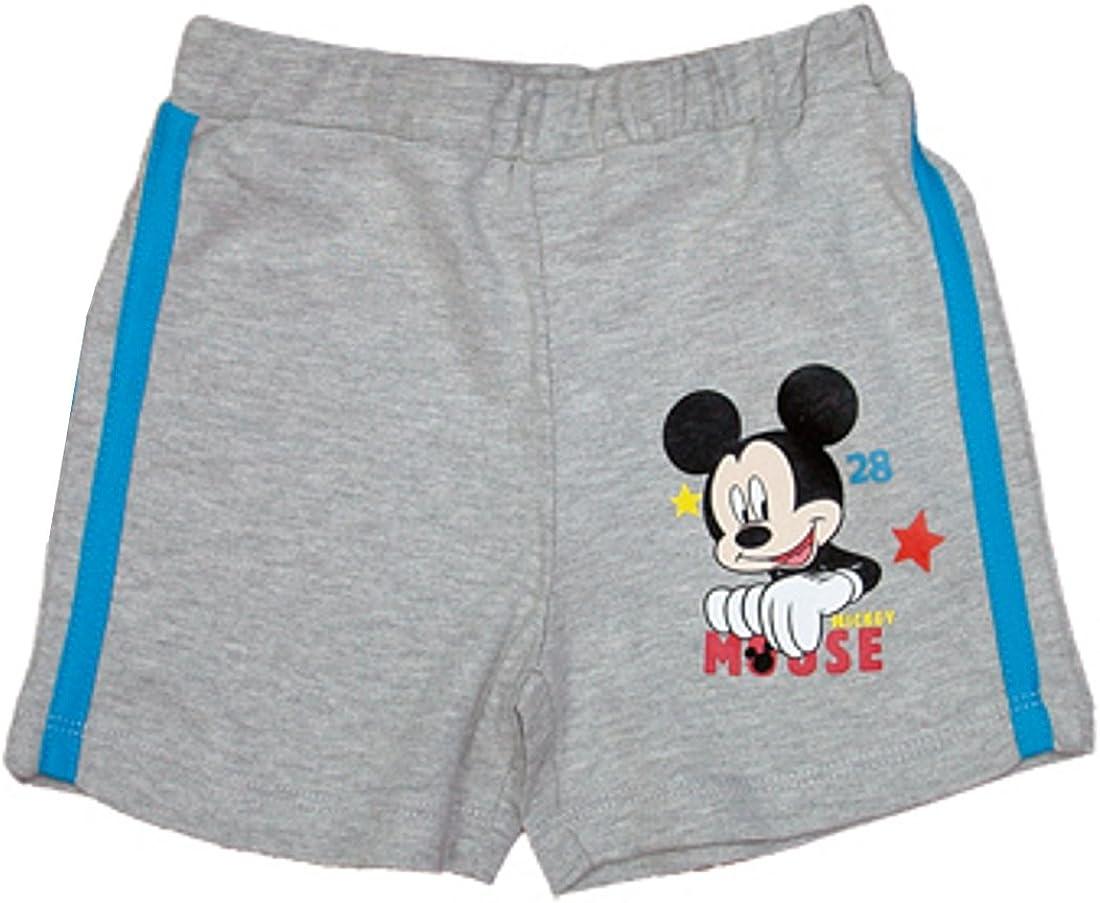 Baby Kleinkind Shorts Mouse Jungen Disney Minnie Mouse Maus Kurze Hose blau oder grau