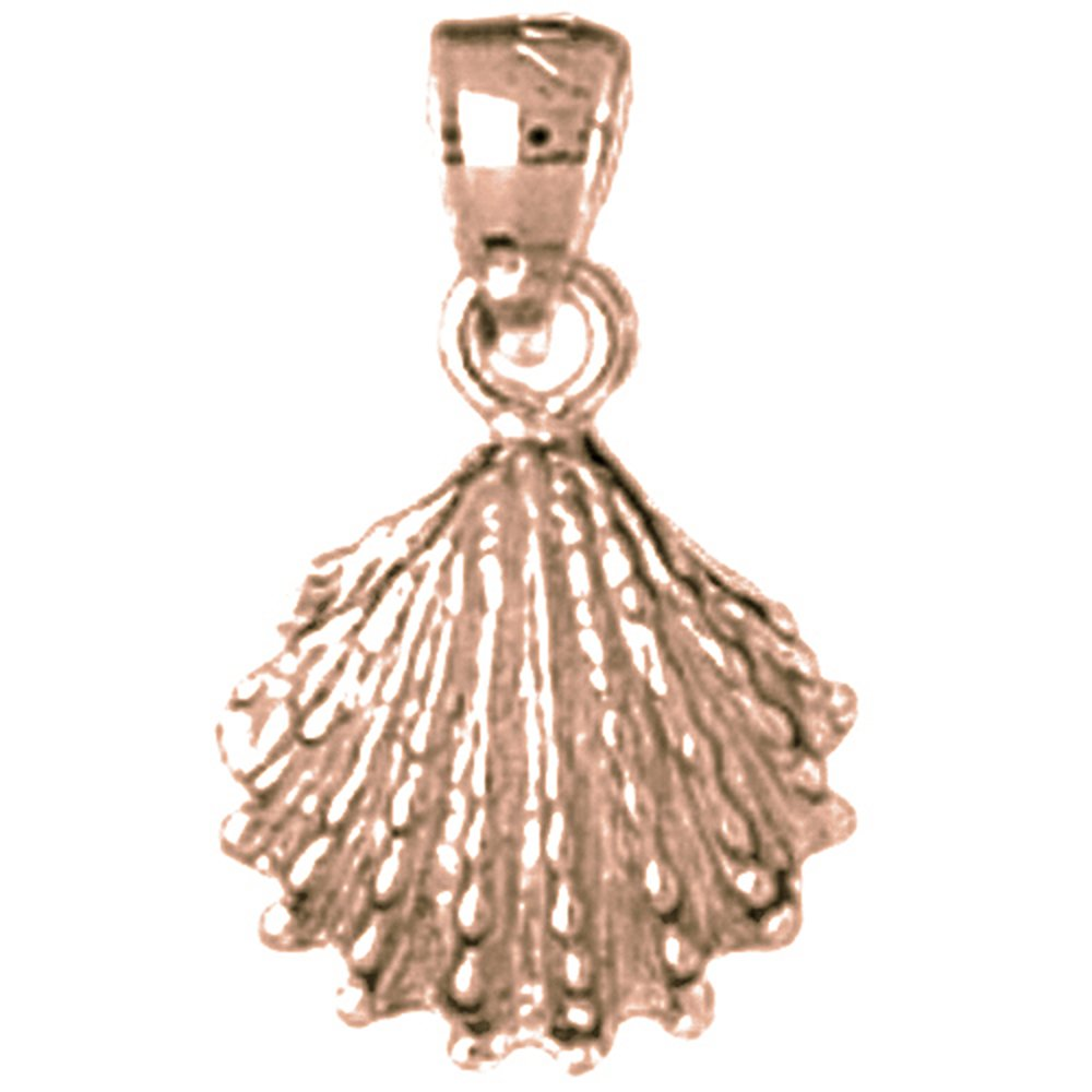 Jewels Obsession Shell Necklace 14K Rose Gold-plated 925 Silver Shell Pendant with 16 Necklace
