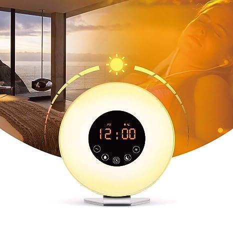 Despertador A La Salida del Sol Despierte Luz FM Reloj De Radio Luz Nocturna Luz Niños
