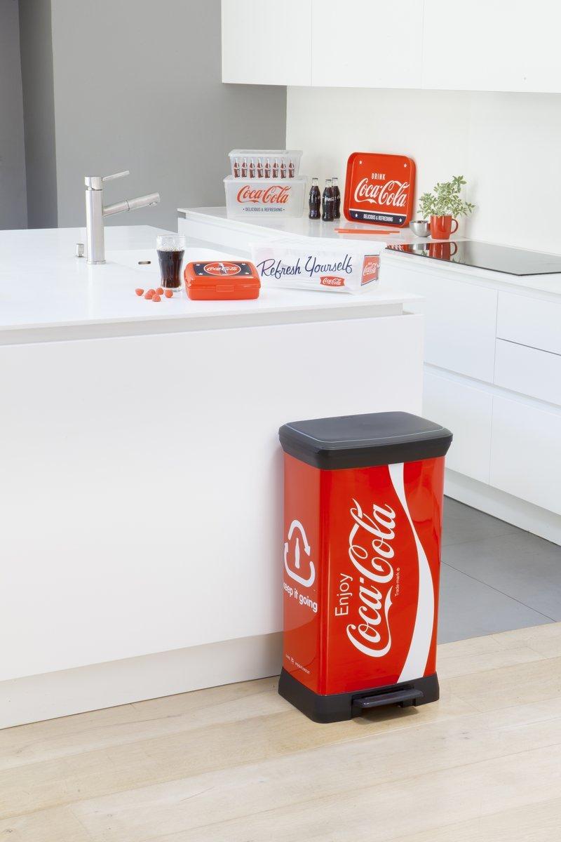 CURVER 2045101 Reciclaje Bin Decoraci/ón Coke Pl/ástico Acabado met/álico Multi 50 L